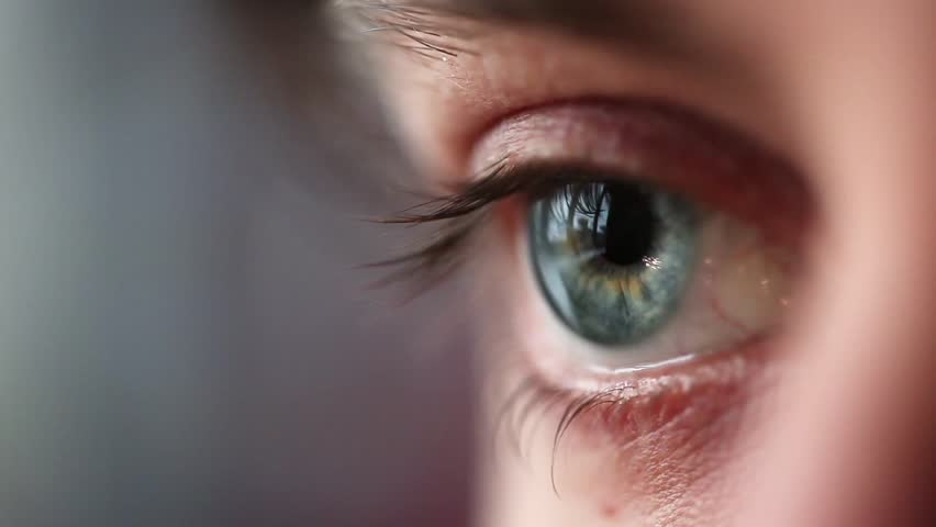 Human Eye blinking - HD stock video clip