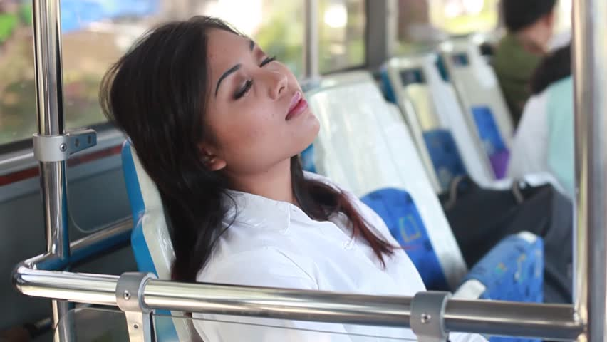 Hasil gambar untuk photo people sleeping in the bus