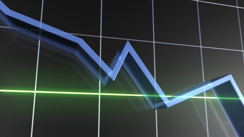 Losing Value Graph HD - HD stock video clip