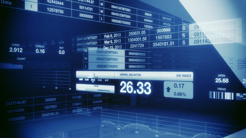 Stock Market Tickers Blue Seamless Loop