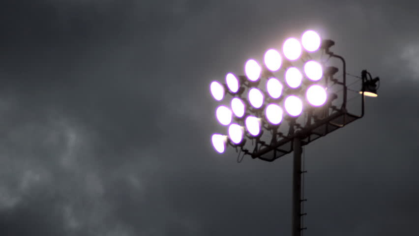Pan Of Stadium Lights Stock Footage Video 1518262
