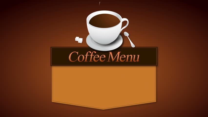 coffee menu board animation(included alpha)