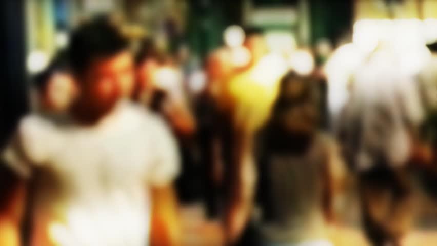 Defocused crowd