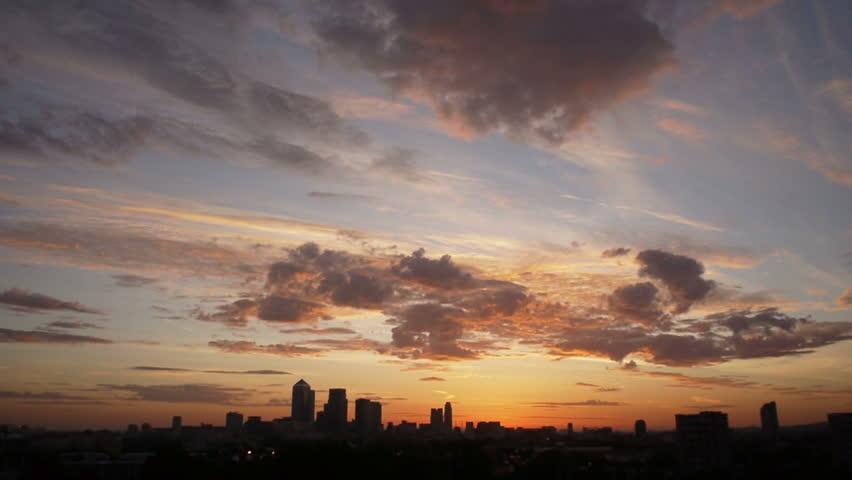 London city dawn sky time lapse