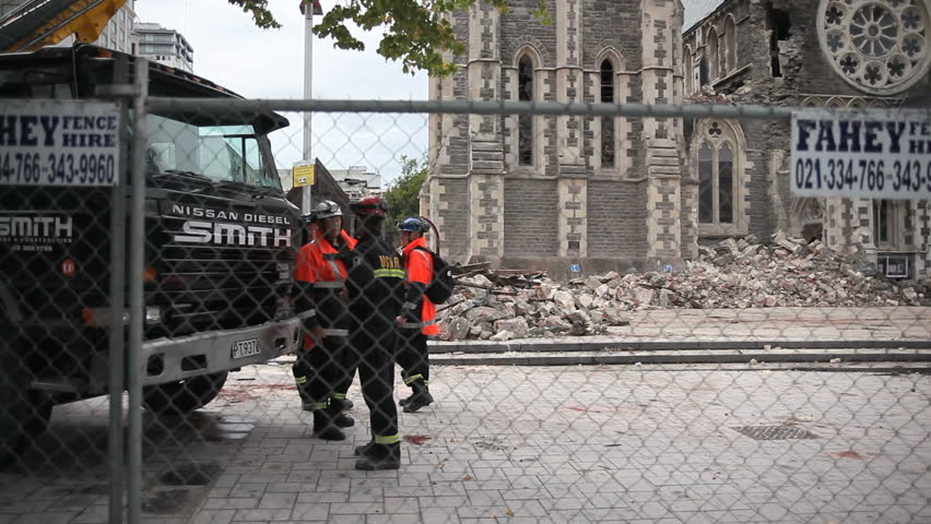 Christchurch Hd: FEB 26: USAR Rescue Workers