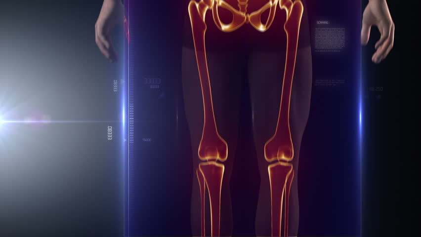 Human body medical x-ray scan - HD stock video clip