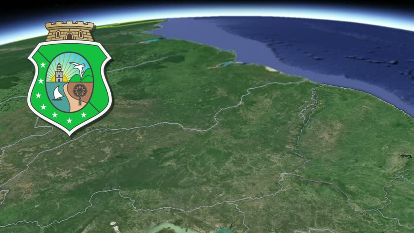Ceara white Coat of arms animation map States of Brazil Ceara? white Coat of arms animation map