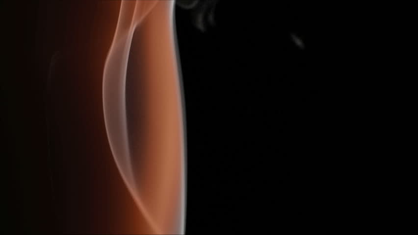 red smoke  on a black background - HD stock footage clip