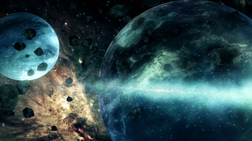 Outer Space Planets, Stars and Galaxy Animation 4K