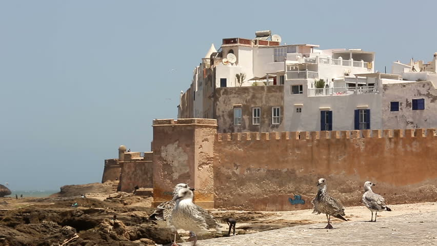 Historical Essaouira city near Atlantic Ocean in Morocco