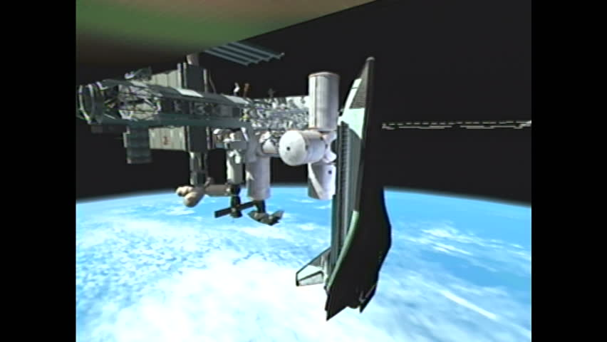 United states 1990s cgi illustration of international for When was the international space station built