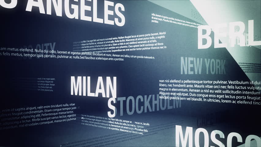 World Cities Background Loop