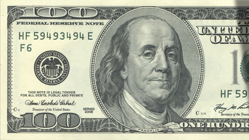 Dollar bills counting loop - HD stock footage clip