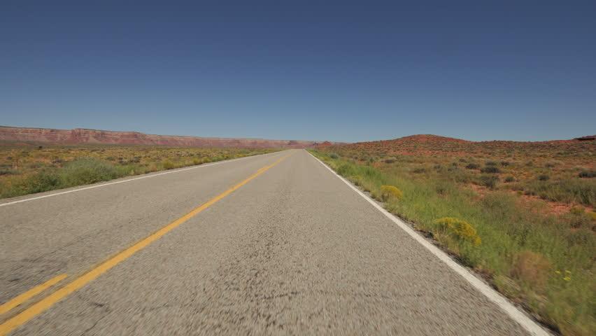 Scenic Desert Drive - HD stock footage clip