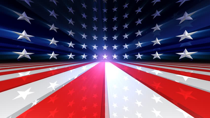 Looping US Flag Stars- and Stripes Animation  - HD stock video clip