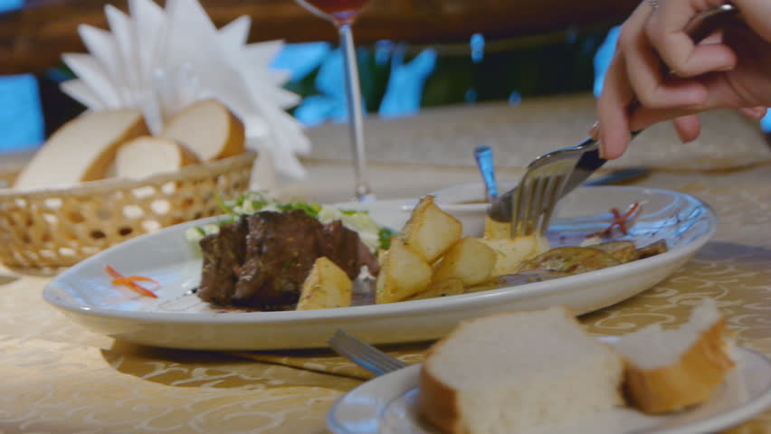 Romantic Dinner in the restaurant - HD stock footage clip