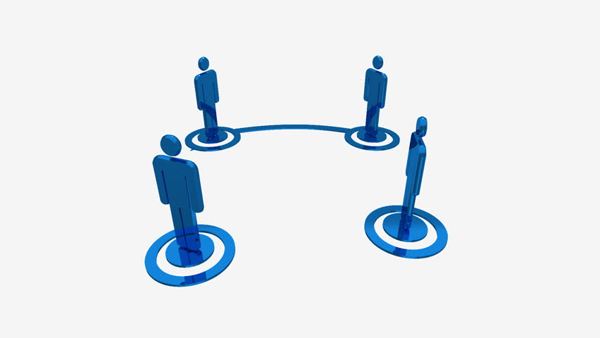 People Networking seamless loop with alpha matte - HD stock footage clip