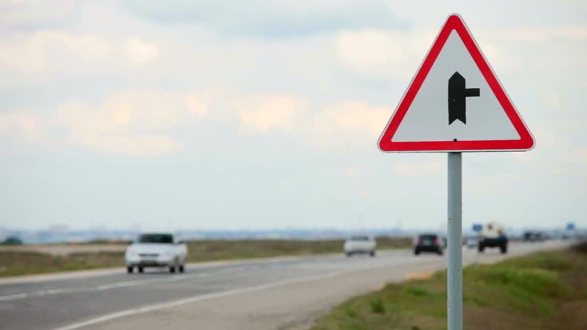Traffic sign - HD stock video clip