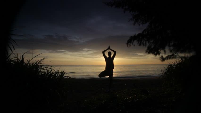Yoga, sea,  dawn,  relaxation #1189063