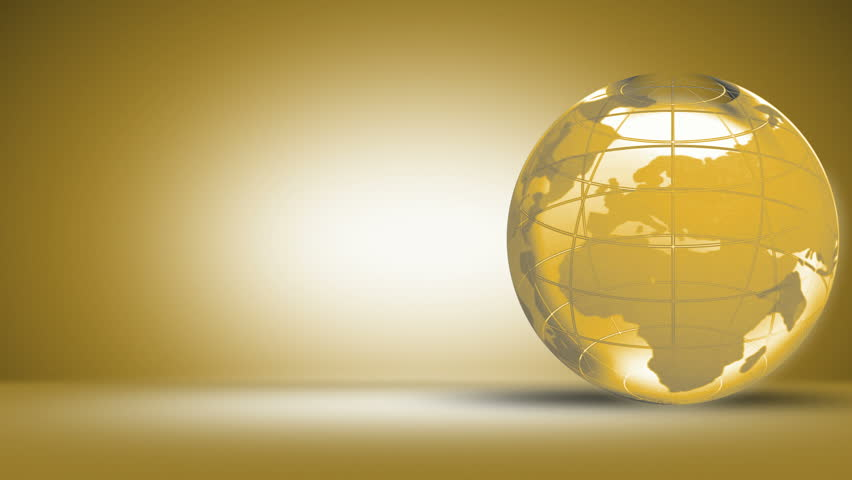 Golden Globe - HD stock footage clip