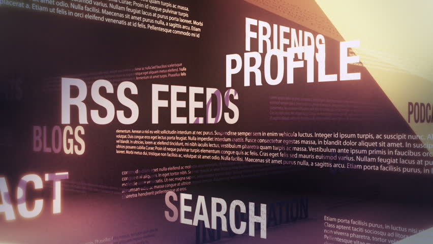 Social Media Related Words Animation Loop