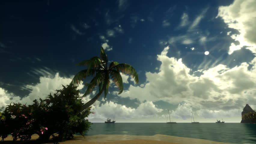 Tropical scene Sunrise Time Lapse #1221283