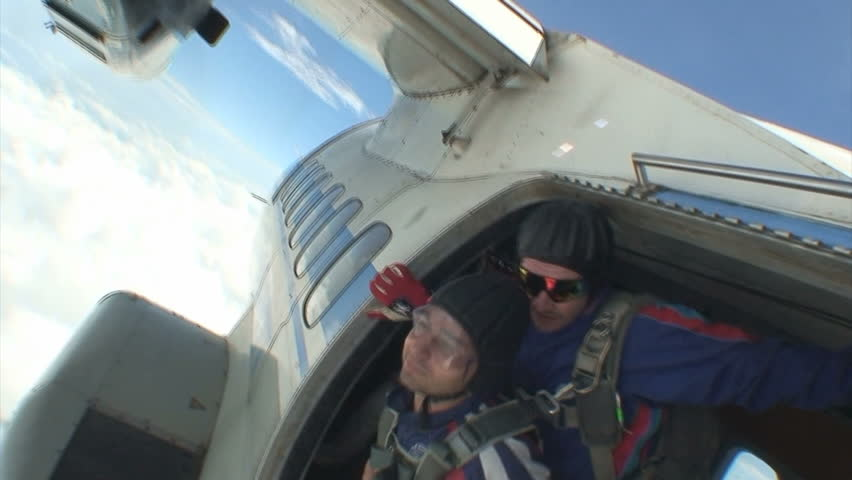 Skydiving video - HD stock video clip