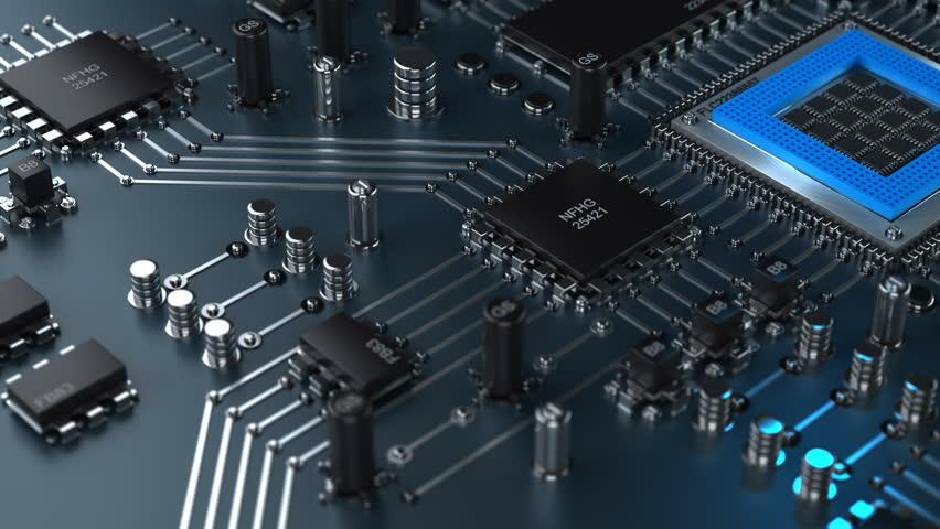 Technology Background 4k 30fps Loop Render 4K Stock Video