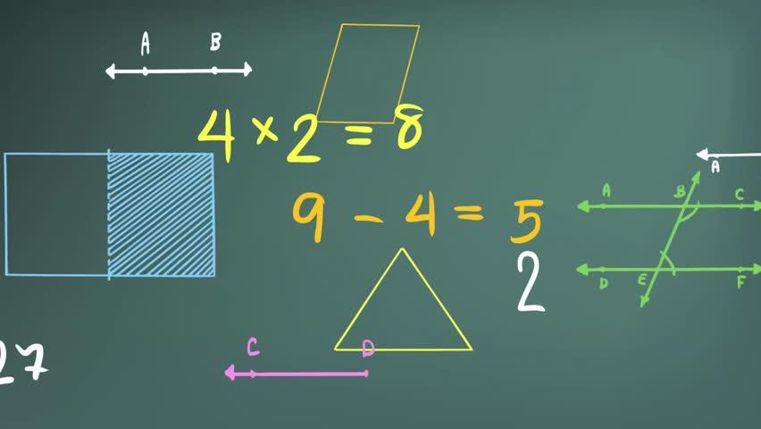math blackboard background hd - photo #3