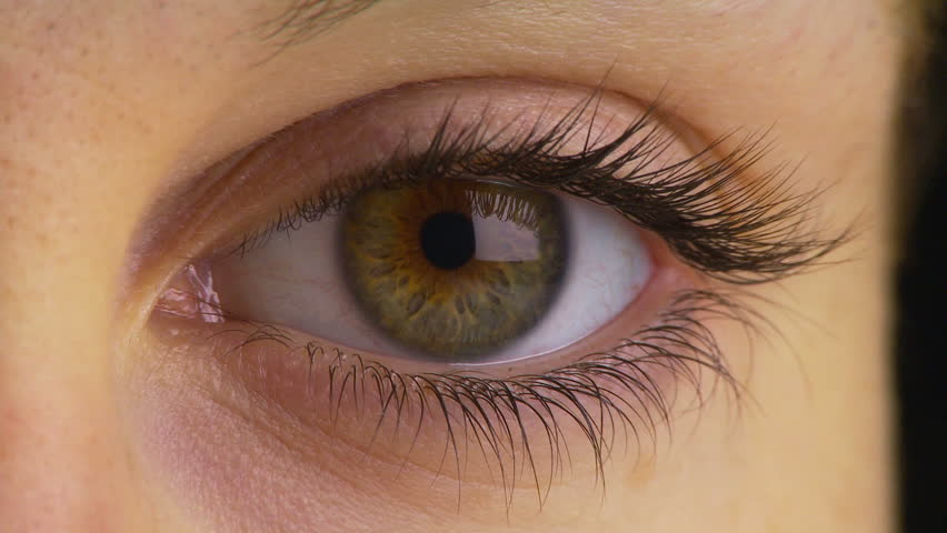 Close-up of woman's eye - HD stock footage clip