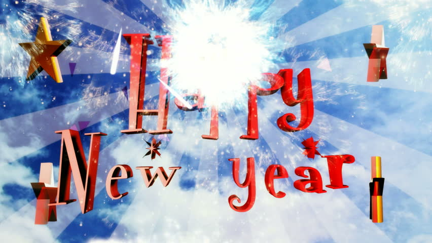 Happy New Year natural cloud design