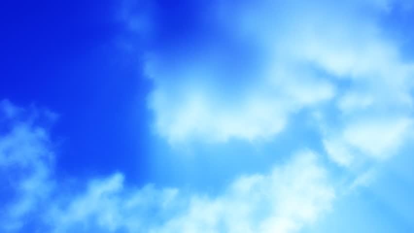 Timelapse Heavenly Sky Clouds Loop - HD stock video clip