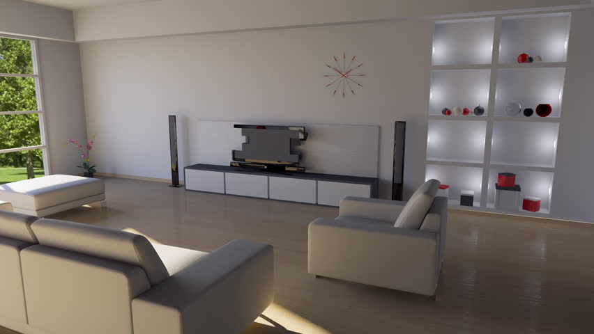 Building Up Modern Living Room  - HD stock video clip