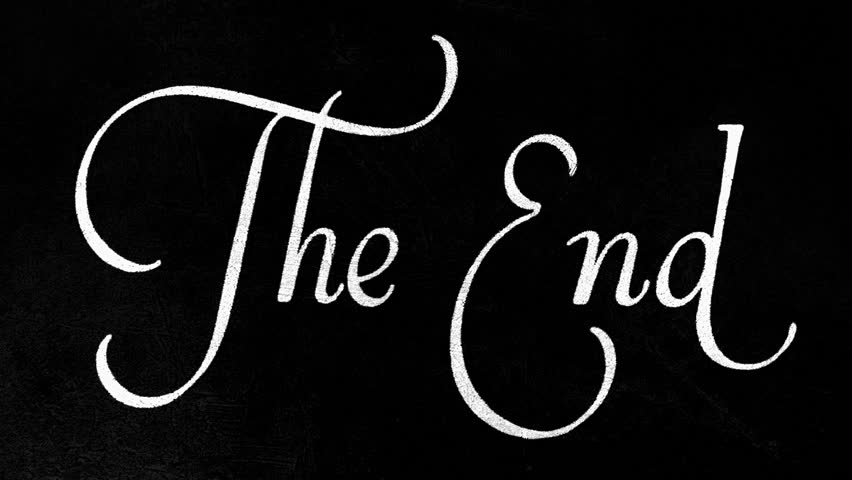 the end film - HD stock footage clip