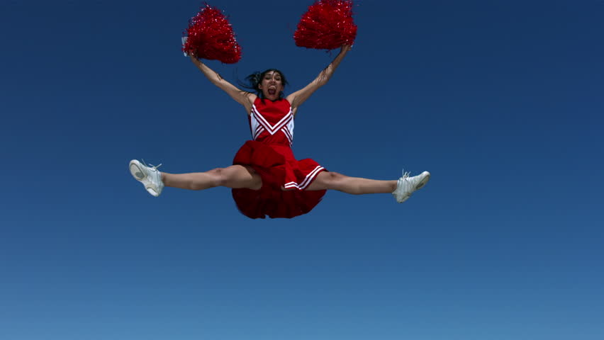 Cinemagraph - Cheerleader, slow motion. Looping Motion Photo.