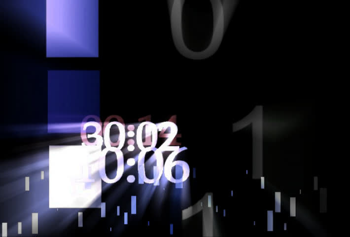 random timecodes flash on the screen on a transparent background - SD stock footage clip