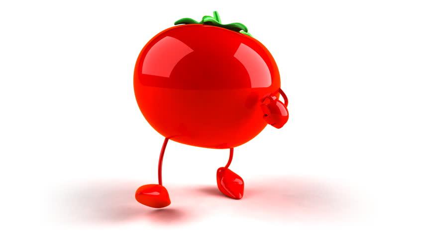 Tomato walking - HD stock video clip