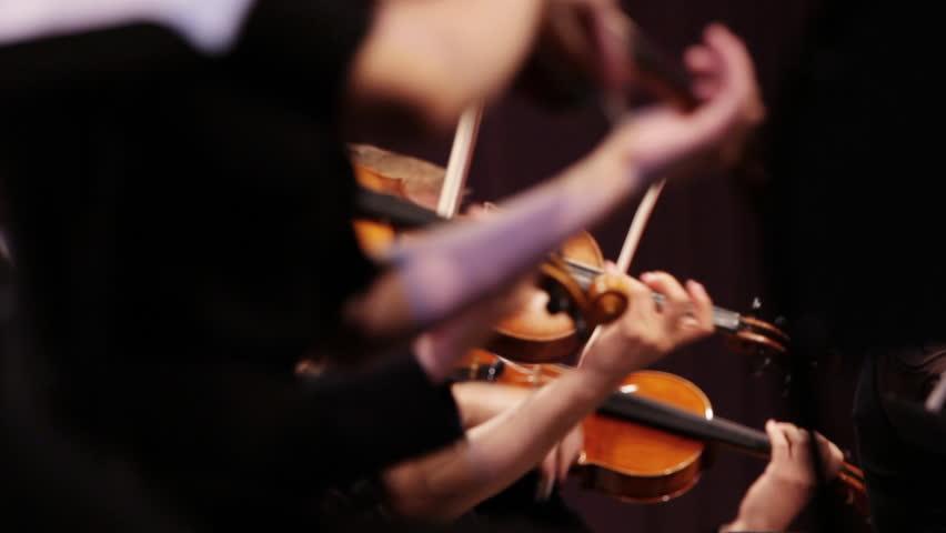 Violin at a concert - HD stock footage clip