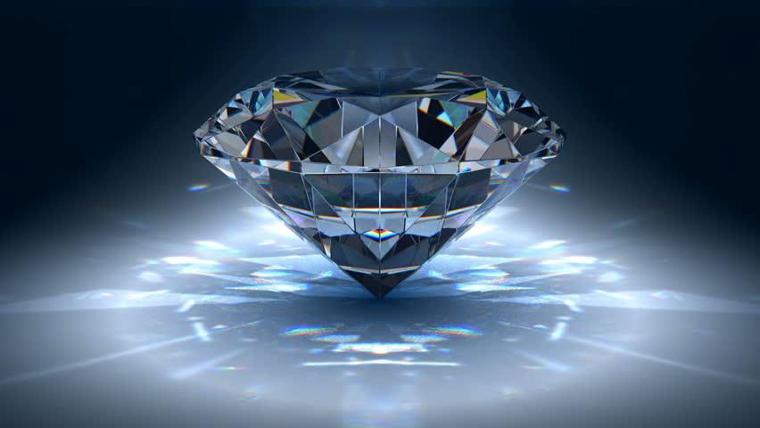 Gem jewelry rotating - HD stock footage clip