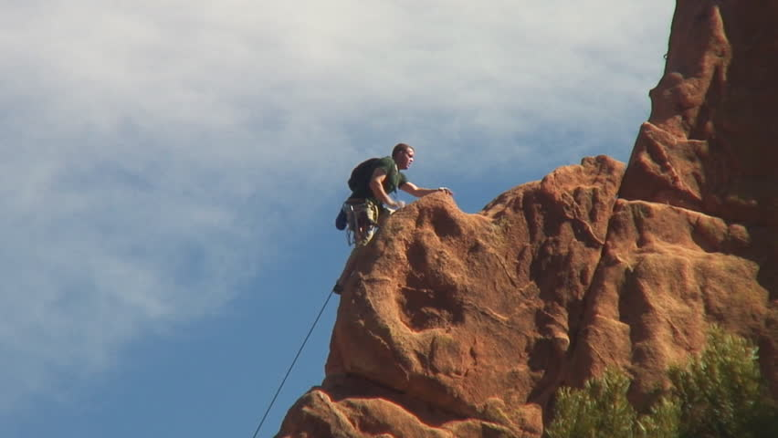 Rock climbing in garden of the gods colorado springs stock footage video 132328 shutterstock for Garden of the gods rock climbing