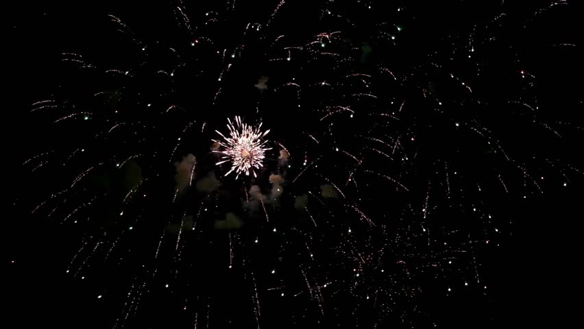 Colorful fireworks of various colors over night sky     Shutterstock HD Video #1334530