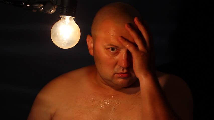 Despairing men  - HD stock video clip