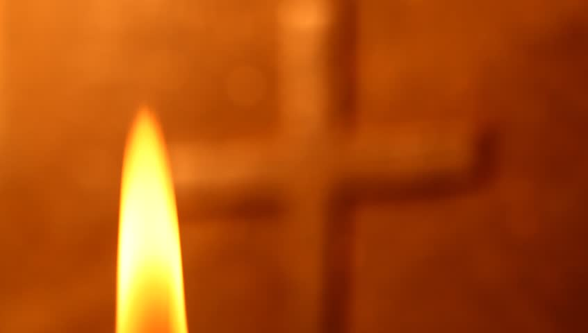 Holy cross with Candle