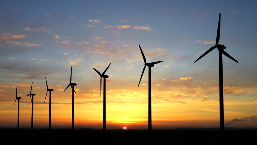 Wind generators with alpha channell - HD stock footage clip