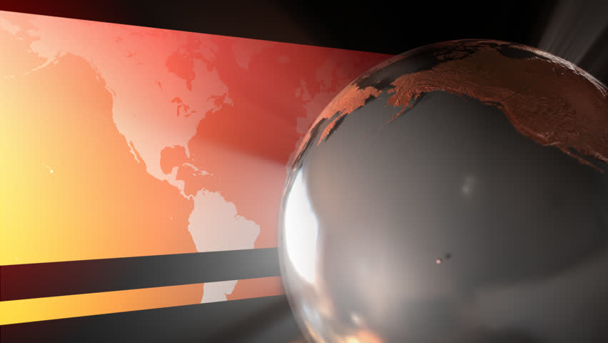 looping animation of a reflective stylized globe - HD stock footage clip