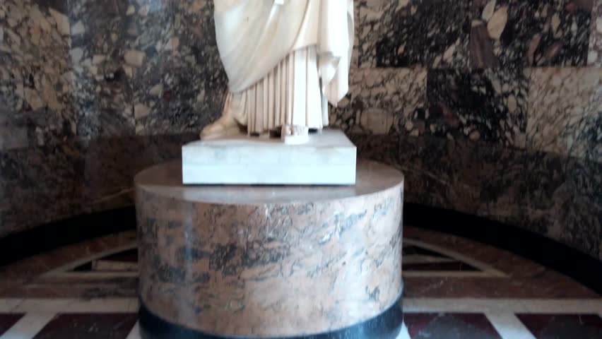 Paris, France - October, 2015 - Athena of Velletri statue in the Musée Louvre.