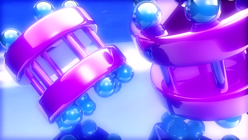 Purple Blue Spinning Objects - HD stock video clip