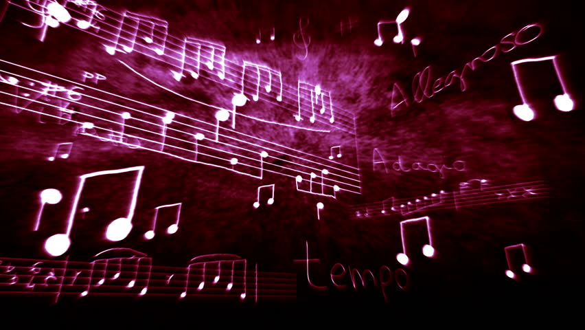 Notes and scores flying/floating in 3D space. | Shutterstock HD Video #1404865
