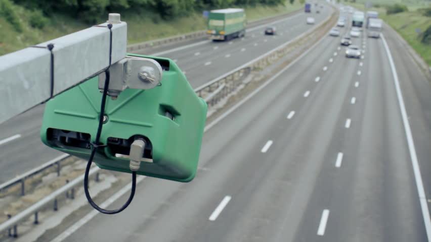 Motorway traffic camera