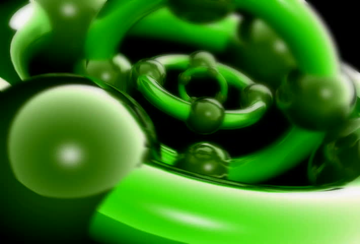 Green Spinning Background